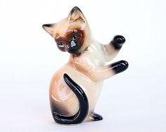 Siamese Cat Figurine by Goebel on Etsy, $9.00
