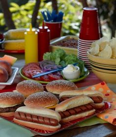 July 4th <3 Have a cookout with family and friends before watching fireworks.