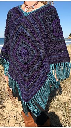Easy Free Crochet Poncho Patterns Ideas for Women Crochet Projects 2019 - Page 30 of 34 - hairstylesofwomens. com Easy Free Crochet Poncho Patterns Ideas for Women Crochet Projects 2019 - Page 30 of 34 - hairstylesofwomens. Crochet Shawl, Knit Crochet, Crochet Woman, Crochet Baby Booties, Knit Patterns, Crochet Clothes, Crochet Projects, Crochet Ideas, Free Pattern