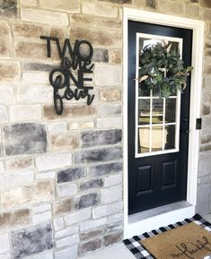 Are you looking for a simple way to create a beautiful home exterior, one that will stand out in If so, the answer is your FRONT DOOR! Front Door Porch, Front Door Decor, Front Doors, Front Door Numbers, Entryway Decor, Small Front Porches, Farmhouse Front Porches, Decoration Entree, Exterior Decoration