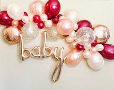 Balloon Garland, DIY Balloon Garland, Balloon Garland Kit, Burgundy, Peach, Rose Gold Shower, Rose Gold Balloons, Rose Gold Bachelorette,