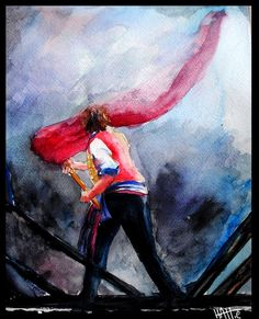 Cool fan art for Enjolras, who always makes me full of hope and confidence. Those are the best qualities in a leader.