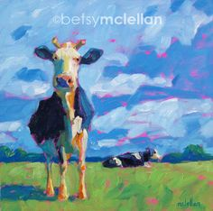 Cows - Cow Art - Cow Print - Giclee Print by betsymclellanstudio on Etsy https://www.etsy.com/listing/93050186/cows-cow-art-cow-print-giclee-print