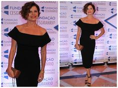 Ângela Bastos: Look Inspiração: Vestido Ombro a Ombro com Babado