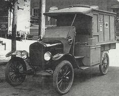 """World War I - Ford Model T Ambulance _ I can not see this and think of """"For Whom the Bell Tolls"""""""