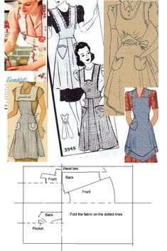 1940s pinny instructions by *Janes-Wardrobe                                                                                                                                                                                 More