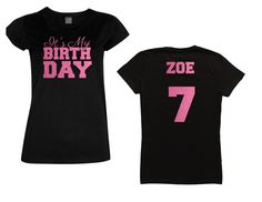 It's My Birthday Shirt - Personalize the Name, Age and Colors - All Glitter Option by MagicalMemoriesbyJ on Etsy
