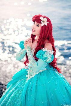 Goth Disney Princesses, Disney Princess Cosplay, Disney Princess Dresses, Disney Cosplay, Disney Dresses, Ariel Cosplay, Cosplay Costumes, Ariel Dress, Princess Pictures