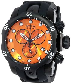 Invicta Men's 5735 Reserve Collection Black Ion-Plated Chronograph Watch *** To view further for this item, visit the image link.