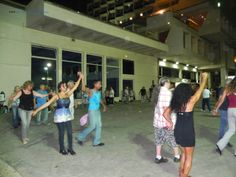 The weekly open air dancing on the Tel Aviv beach, at the end of the day of rest - Shabbat