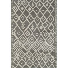 "The Conestoga Trading Co. Light Grey Area Rug Rug Size: Runner 2'3"" x 7'10"""