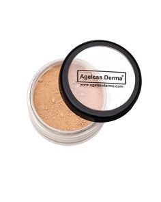 Ageless Derma Loose Mineral Foundation Cashmere with Vitamin A, E and green tea extract. 100% Mineral Makeup, No Paraben, Made in USA * This is an Amazon Affiliate link. Want additional info? Click on the image.