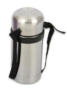 Stainless Steel Lunch Box / Hot Food Carrier Thermos, 1 Liter Capacity by Home Ware. $19.99. Vacuum insulated keeps food hot or cold. Unbreakable 18/8 Stainless steel. Easy to clean, solid construction.. Capacity 1 Liter (34 ounces),. Adjustable carrying strap - Makes it convenient to carry on your shoulder. Well-constructed food container ready to hold your lunch at school, work, travel. Easy to clean. Stainless steel construction for durability - made to last. Ideal for a ...