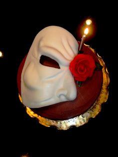 Phantom Of The Opera Birthday Cake by CenterRingCakes.com