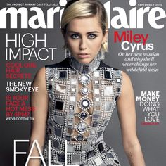 @mileycyrus looks *fabulous* on our September 2015 issue, on newsstands 8/18—read her cover story in the link in our bio! #MileyCyrus