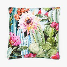 Capa de Almofada Cactus Flores 50 x 50 cm | referência 26869253 | A Loja do Gato Preto | #alojadogatopreto