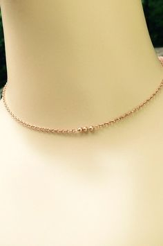 Flower Girls Pearl Necklace Rose Gold Bridesmaids by SUSANsBAUBLES
