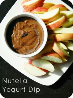 Easy Fruit Dip with Nutella - Who doesn't love Nutella ? Only 3 ingredients.  #Nutella