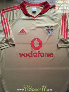 Relive Benfica s 2004 2005 season with this vintage Adidas away football  shirt. Classic Football ede82f667