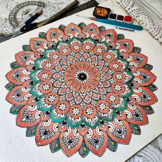 Mandala Art Lesson, Mandala Artwork, Mandala Drawing, Mandala Dots, Mandala Pattern, Mandala Design, Cool Art Drawings, Art Drawings Sketches, Abstract Line Art