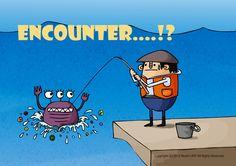 "illustration ""Encounter….!?"" by Noah's ART 2012.4.26"
