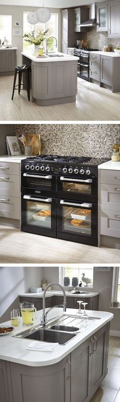 Complete your dream kitchen with a top of the range oven and sleek island with breakfast bar. Start designing your dream Kitchen: po.st/BWX5ww