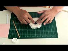 TUTORIAL Anemone Flower Gumpaste for Decorating Fondant Cake - YouTube