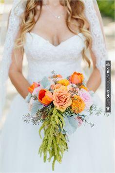 Orange bouquet // Ashleigh Jayne Photography // via Le Magnifique Blog   CHECK OUT MORE IDEAS AT WEDDINGPINS.NET   #weddings #weddingflowers #weddingbouquets #bouquets