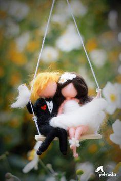 needle felted waldorf inspired wedding von PETRUSKAfairyworld