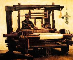 Van Gogh produced a series of studies on the weavers loom He found work in the full attention of the weaver a similarity with his own work ...NUENEN PAGE 2
