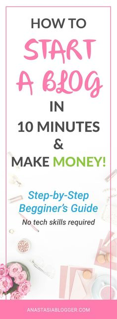 How to Start a Blog in 10 minutes: a Step-by-Step Guide for Beginners. Start your blog and make money online! Find out how to choose and register a domain name, set up Bluehost hosting for your WordPress blog, how to install the best theme that will fit y
