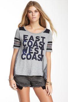 Free People T Shirt - East Coast West Coast