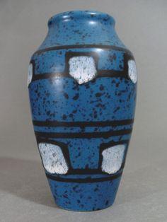 BAY BODO MANS 1960/70s SMALL VASE WEST GERMAN ART POTTERY MODERNIST VINTAGE #Vases