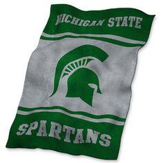 Michigan State Spartans NCAA UltraSoft Fleece Throw Blanket (84in x 54in)