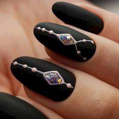 36 Elegant Black Nail Art Designs that You'll Love