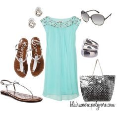 fresh summer style: silver & seafoam! #outfit
