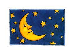 Postkarte Mond