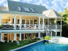 huge houses with wrap around pourch | The huge 77' covered wrap around porch on middle level and 55' porch ...