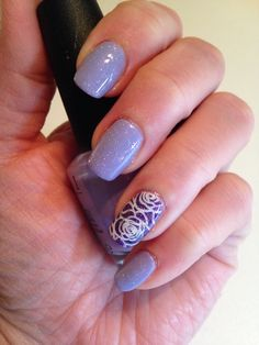 OPI's your such a Budapest with stamping.