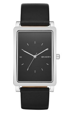 Skagen 'Hagen' Leather Strap Watch, 40mm available at #Nordstrom