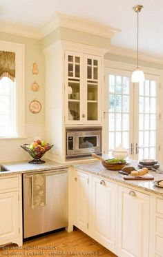 40 Admirable Kitchen With A Peninsula Design Ideas Kitchen Cabinet Colors Kitchen Colors Cream Colored Kitchen Cabinets