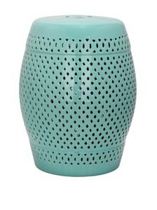 Amazon.com   Safavieh Castle Gardens Collection Diamonds Ceramic Garden  Stool, Light Blue $120