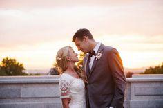sunset wedding photo by Brooke Schultz http://brookeschultzphotography.com