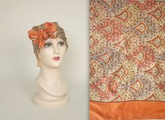 LIBERTY of LONDON paisley scarf  vintage silk by MintageClothingCo