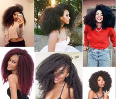 afro curly braids hair