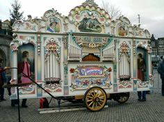 Dutch Groningen - Draaiorgel 'De Pronkjewail' - plays calliope-like music and the figures move as the music plays
