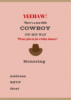 Free Printable Baby Shower Invitations - Boy - Girl - Nautical - Shower - Rain - Umbrella - Cowboy - Cowgirl #babyshowerideas Baby shower ideas for boy or girl