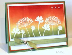 summer silhouettes stampin up brayer