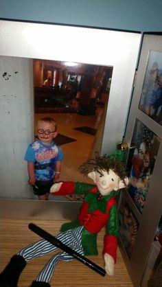 Elf on the shelf photo graffiti