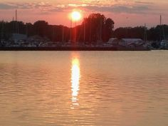 Best Sunsets in the world happen on Lake Erie!!! Vacation in Catawba